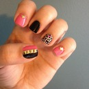 Pink & black!
