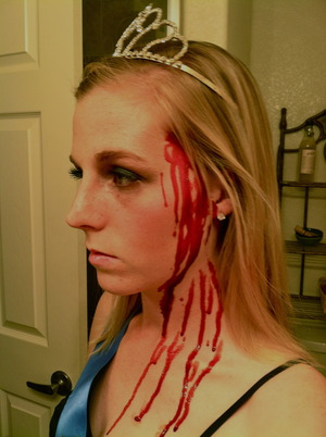 Dead Homecoming Queen, Halloween 2011 Close Up of Blood FX