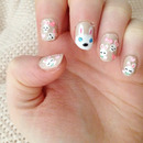 Super Easy Cute Easter Bunny Nails