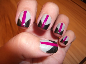 Colorblocked Nails