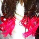 Bright Hot Pink Ombre