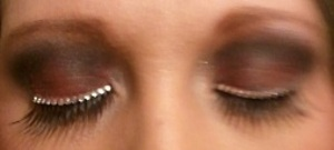 False Rhinestone Lashes with wing