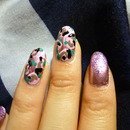 Vintage Flowers and Glitter