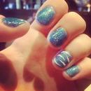 zebra blue glitter