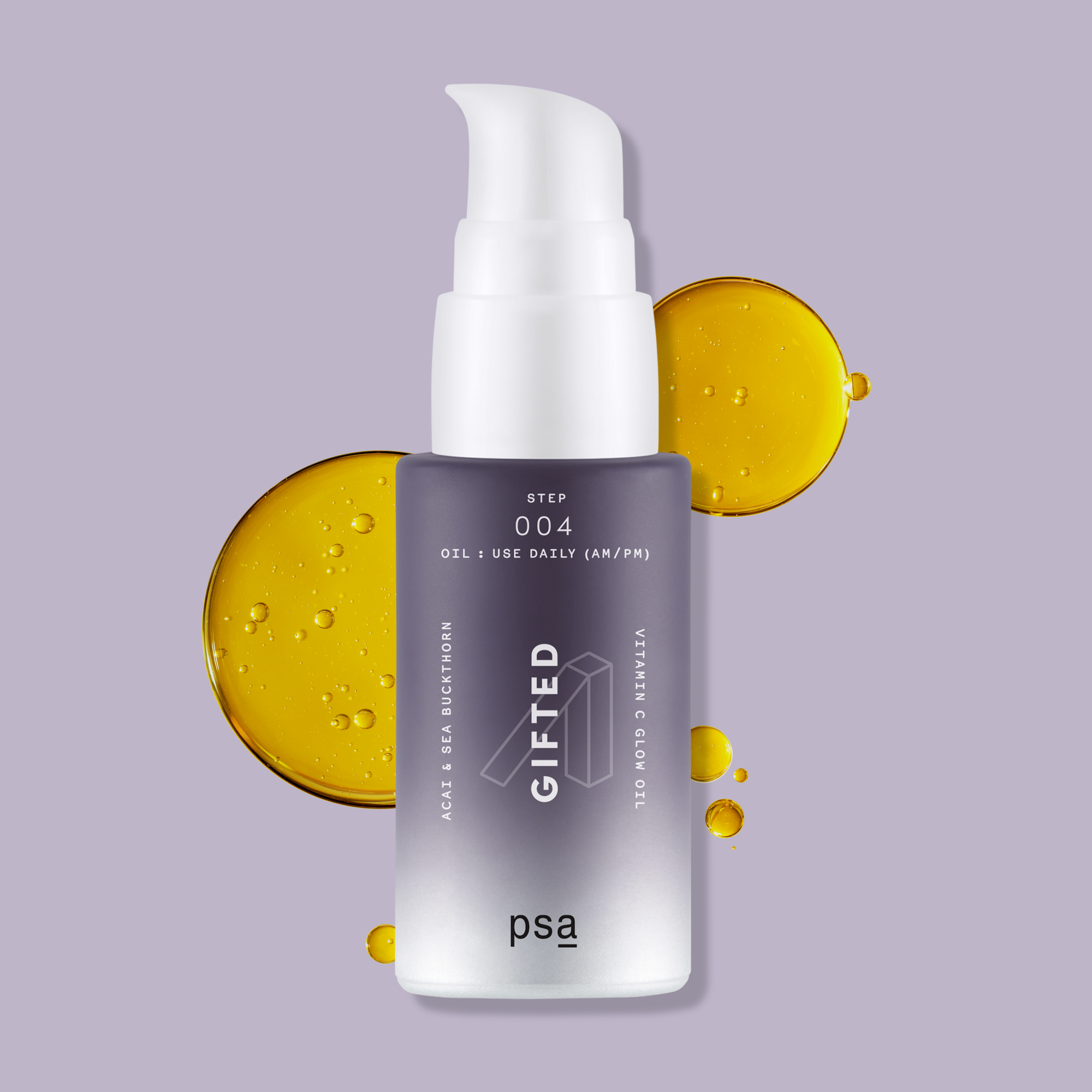Alternate product image for Gifted Acai & Sea Buckthorn Vitamin C Glow Oil shown with the description.