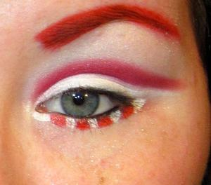 Candy Cane Holiday Makeup:)