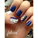 Blue Zebra Mani