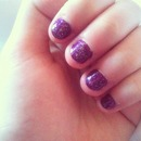 nails manicure purple nails sparkly