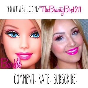 Barbie makeup tutorial on my Youtube: TheBeautyBox1211 :)