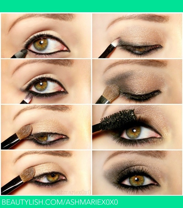 how to draw smokey eyes