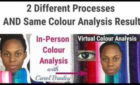 A Look at 2 Different Processes AND Same Colour Analysis Result: In-Person and Virtual Steps 🎨🌟