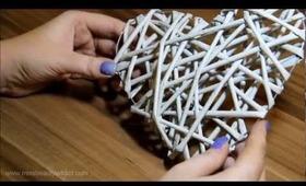 DIY Papierový Pedig - Srdce