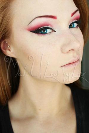 Eyeshadow look from my Harley Quinn look. Alexys Fleming ©