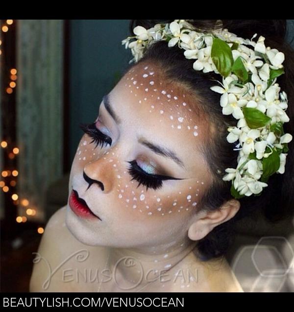 Doe Deer Makeup Tutorial Halloween Esmeralda P S