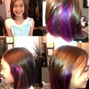Two Different Purples In Middle Layer Of Hair!