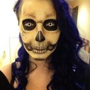 Skull makeup by Valkyrie Fox