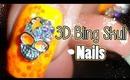 3D Bling Skulls and Spider Webs Nails