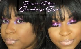 Dramatic Purple Glitter | Smokey Eye | Lovebeautista 2016