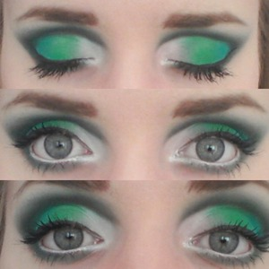 Inspired by the talented Tynea T: http://www.beautylish.com/f/jxjmqv/st-patricks-day    These are some of the pictures of this look that I forgot to upload.