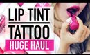 48 Hour Lip Tint Tattoo OMG!! ♥ HUGE Korean Lip Tint Haul & Swatches ♥ Wengie