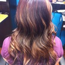 Red/Brown with Carmel highlights