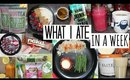What I Ate in a Week - Food Diary