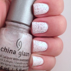 I wish this wasn't textured. I want this polish, but regular formula. This is 2 coats over white w topcoat.