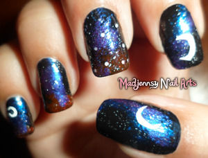 Nail Art by me, Inspired by a cute night I've spent looking at the stars!