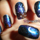 Dark Starry Night Nail Art!