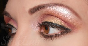I love the look with that so sweety eyeshadow colors.