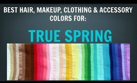 Spring Color Palette: Best Hair, Makeup, Outfit Colors - Warm Skin Tone / Undertone - Color Analysis