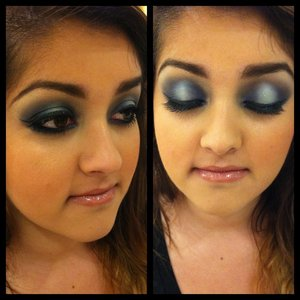 i did this look on a client at work for her prom. :)