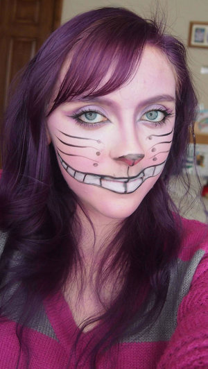 This is my Chesire Cat inspired makeup that I did to match me newly died purple hair!