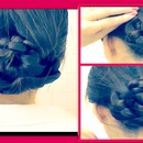 "5 MIN ""WET"" Hair Hairstyles Updo.  Braided Ballerina Bun, quick and easy Hair Tutorial."