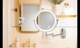 Bazal 7X Wall Mounted Makeup Mirror, Double-Sided Swivel Vanity Mirror