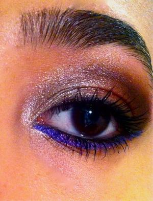 Vibrant purple & Brownish smokey eyes <33