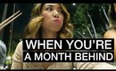 VLOG: WHEN YOU'RE A MONTH BEHIND... | yummiebitez