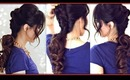 ★ CUTE FRENCH TWIST-AROUND PONYTAIL   |  EASY SUMMER LONG HAIRSTYLES UPDOS FOR MEDIUM LONG HAIR TUTORIAL