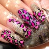 Gold Glitter And Pink Leopard