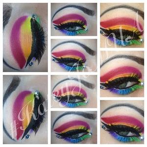 A rainbow Toucan Sam look!!