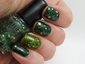 Hit Polish Blarney Stone layered over OPI Here Today Aragone Tomorrow and China Glaze Budding Romance. For more information and photos please visit my blog post: http://www.lacquermesilly.com/2013/03/17/happy-st-pattys-day/