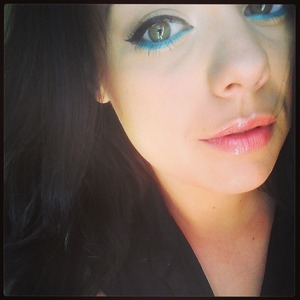 """I used Nyx """"Aqua Shimmer"""" liner. Love these liners! Great pigmentation and long lasting."""