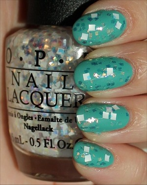 From the Oz the Great and Powerful Collection. See more swatches & my review here: http://www.swatchandlearn.com/opi-lights-of-emerald-city-swatches-review-layered-over-zoya-wednesday/