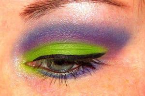 Purple and Lime with a splash of pink