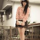 Flowery Pink Chiffon Blouse