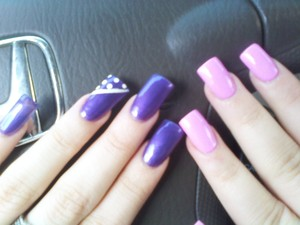 dark purple with design...light pinkish veryy adorable color