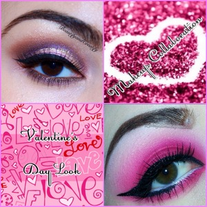 Fun collab with Ashley -  @lovelylilmakupaddict 💕💕💕💕 with lots of pink and touch of glitter