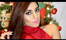 Holiday glam makeup tutorial for brown skin.