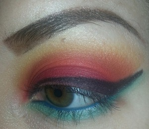 Playing with my new palette :))