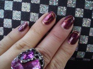 Glitz n Glamour (Orly), purple crack polish (Kelier Nail)